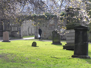 Explore Greyfriars church and church yard and discover the story of Greyfriar's Bobby, about 10-20 minutes walk from the flat