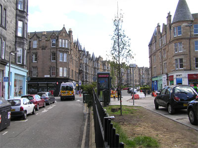 Roseneath Place near junction with Warrender Park Road