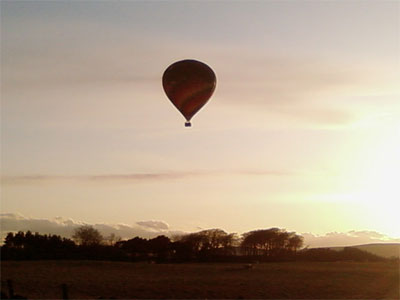 Why not take a hot air balloon ride over nearby countryside in Midlothian